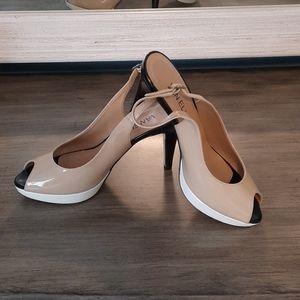 Color block platform shoes